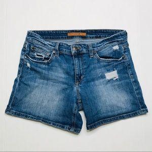 Joe's Distressed Jean Shorts Sz W 26 Medium Wash
